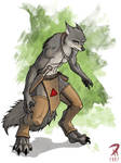 A feral wolf type guy...
