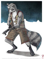 TK Raccoon Commission by Hyptosis