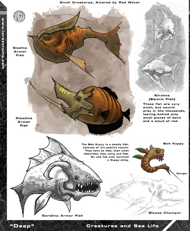 More Ocean Alien Fish Things by Hyptosis on deviantART