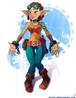 Elf Engineer by Hyptosis