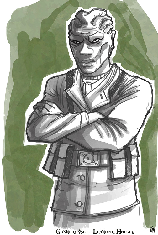 Gunnery-Sgt. Leander Hodges by Hyptosis