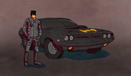 Gotham in Sand by Hyptosis