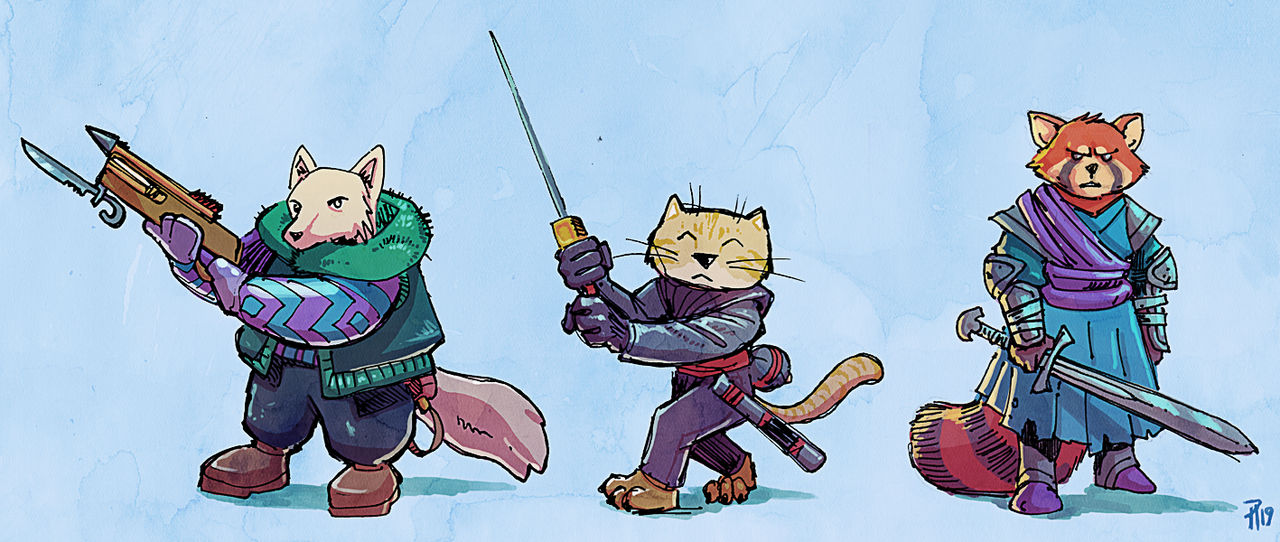 Fur-covered Warriors by Hyptosis