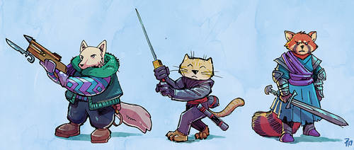 Fur-covered Warriors