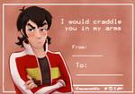 Keith Valentine's card