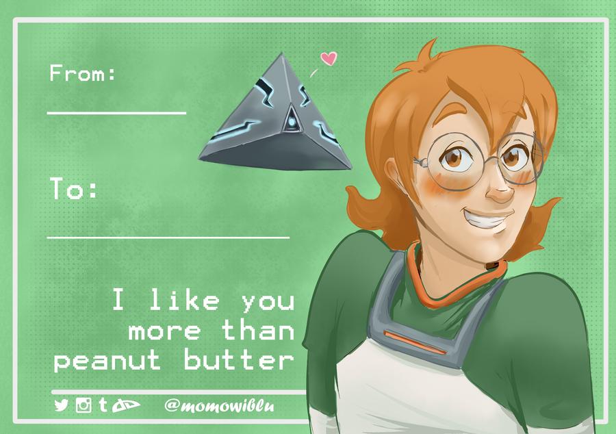 Pidge Valentine's card by momowiblu