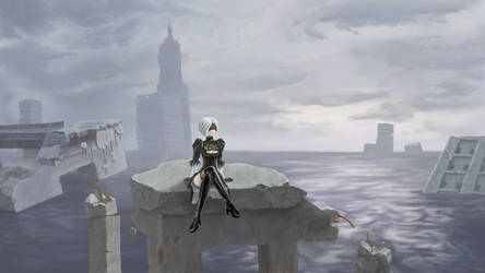 2B flooded city