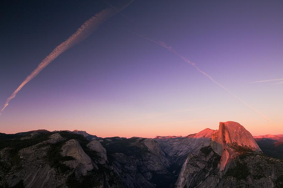 Half Dome Sunset by Mashuto