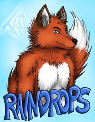 Raindrops Badge by FipsNezu