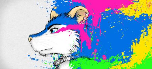 Color Splatter [Blanc] by FipsNezu