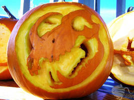 Pumpkin Carving - Babirusa Skull 3