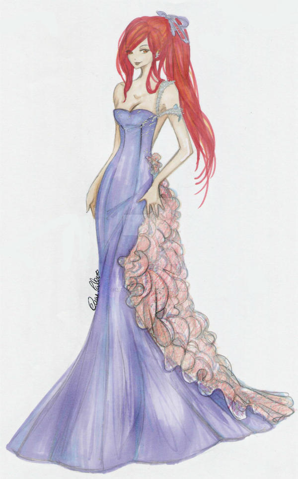 Erza scarlet haute couture by mellorine91 on deviantart for How to become a haute couture designer