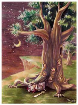 Sleeping under the eye tree