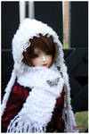 Knitted scarf and hoodie
