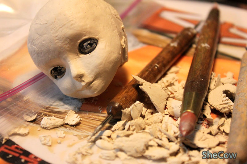 Doll Making - a head