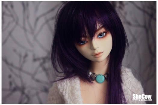 Head#3 w purple wig