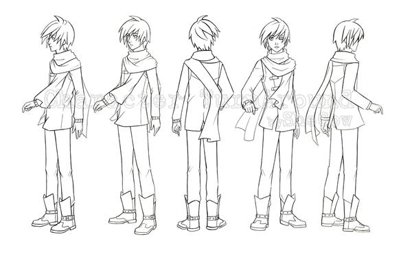 Character Design From Life Drawing : Character turn around by shecow on deviantart