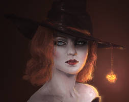 Pumpkin Witch (close up) by Blackbell93
