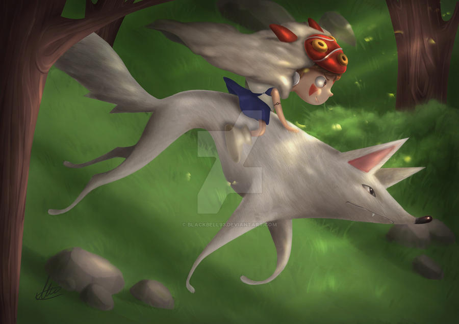 Mononoke Hime by Blackbell93