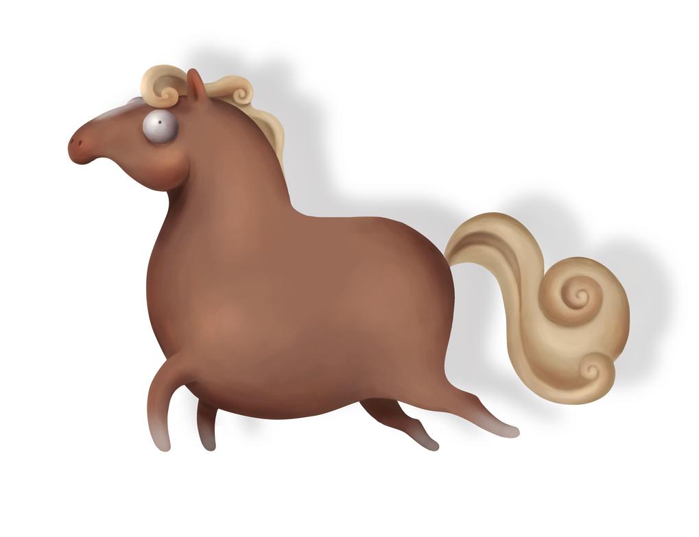 Chubby horse by Blackbell93