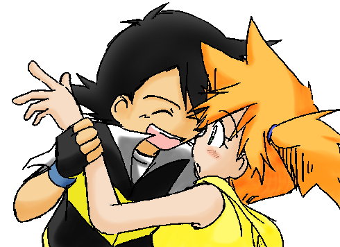 Ash and Misty hugging by KasumiKetchum