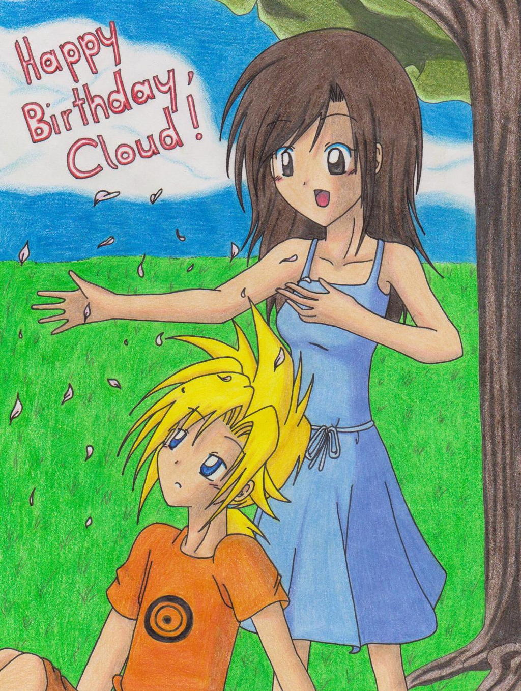 Happy 'late' Birthday Cloud by KasumiKetchum