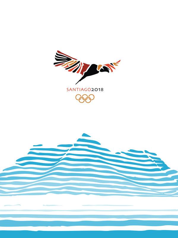 Santiago Olympics Event Poster