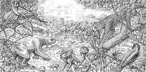 Pleistocene Central America by LEXLOTHOR