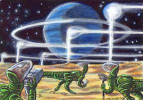 Dinosaurs on Triton by LEXLOTHOR