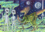 Dinosaurs at Zeta 2 Reticuli