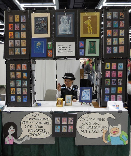 Our Display at Emerald City Comic Con 2014