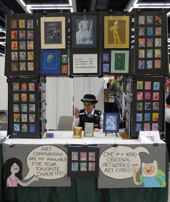 Our Display at Emerald City Comic Con 2014 by LEXLOTHOR