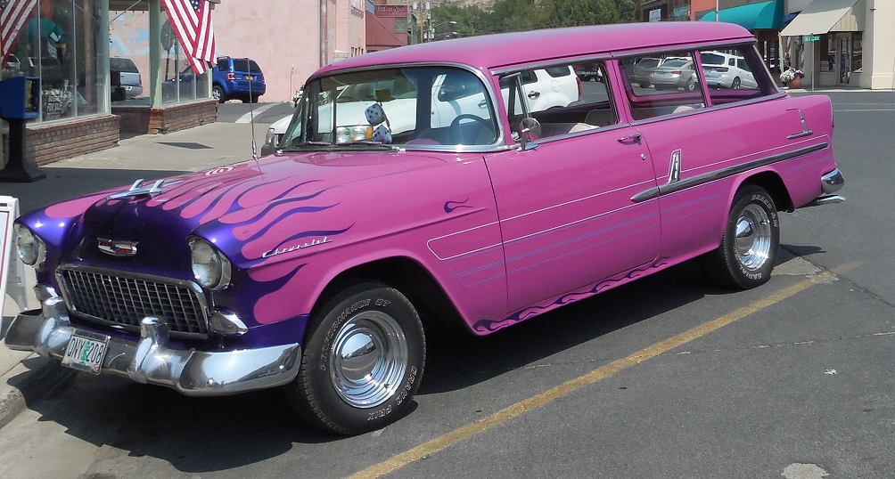 Hot Pink Chevy Wagon by LEXLOTHOR on DeviantArt