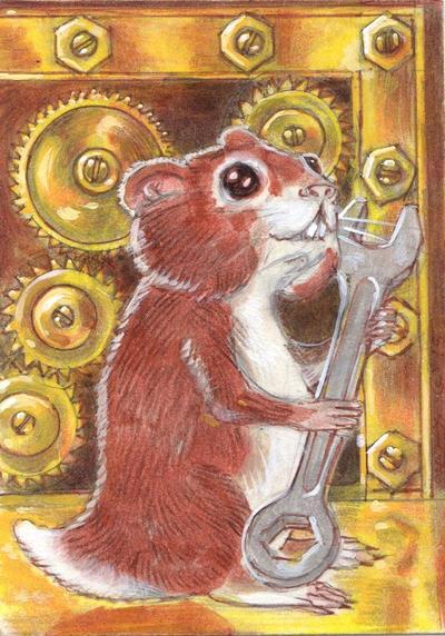 Steampunk Hamster IX by LEXLOTHOR