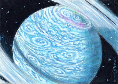 Ringed Super-Earth by LEXLOTHOR