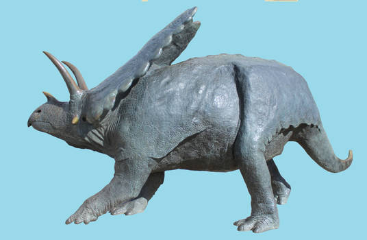 Pentaceratops sculpture Spike stock