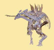 Stegosaurus stenops Skeleton stock