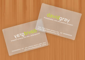 Transparent card mockup by Grayda