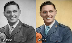 Black and white Photo recolouring by Grayda
