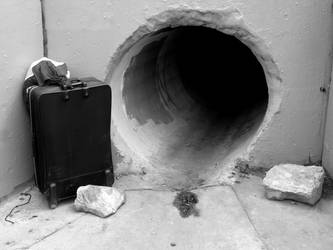 Suitcase and Sewer by IanM