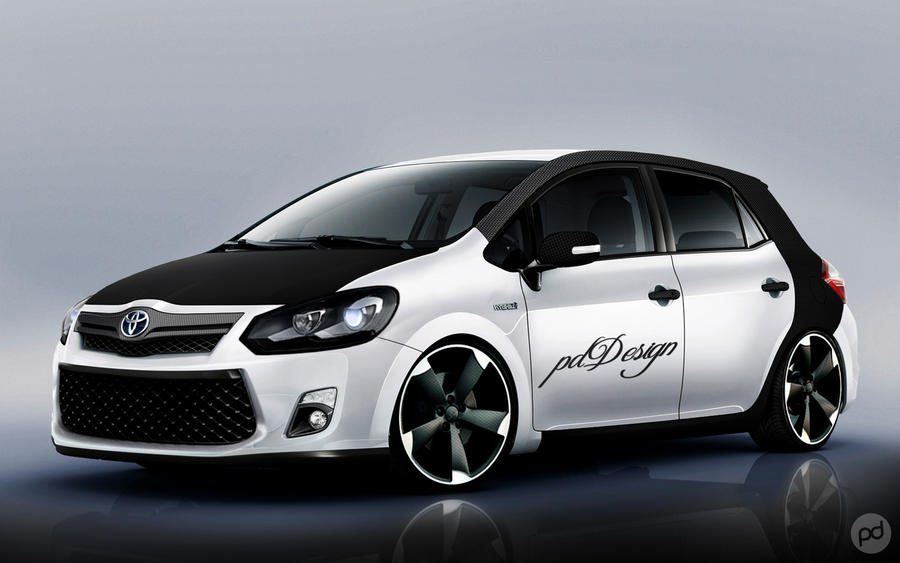 toyota auris tuning by pddeluxe on deviantart. Black Bedroom Furniture Sets. Home Design Ideas