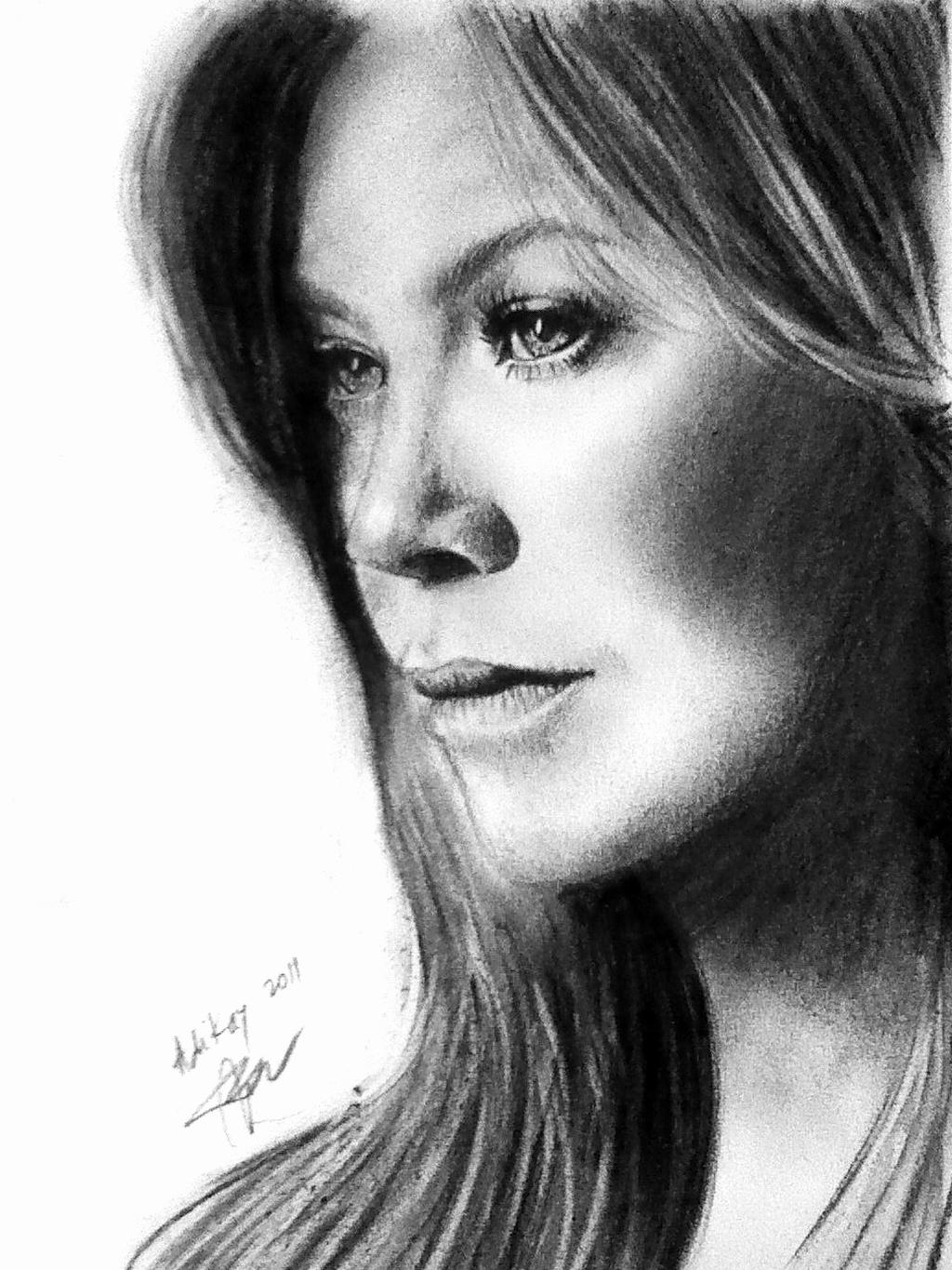 Drawing Lines Grey S Anatomy : Ellen pompeo portrait by adikay on deviantart