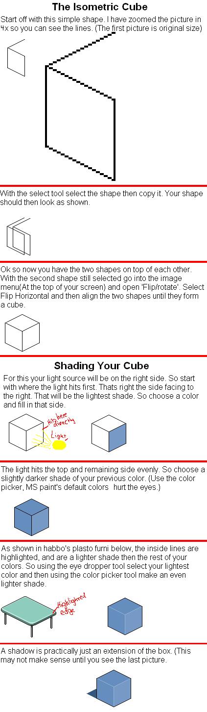 Isometric Cube Shading Shadow by iwastetime