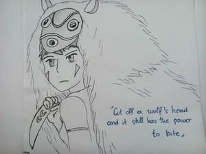 Princess Mononoke - The wolf's head