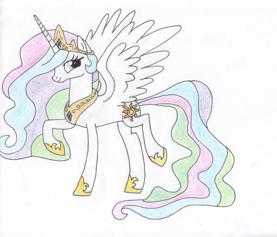 how to draw : princess celestia