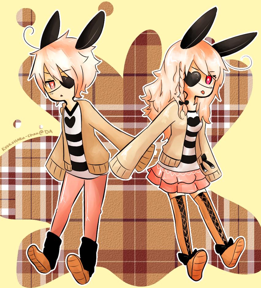 Tsundere Bunny Twins by KyokoHaru-Chan