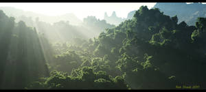 New Jungle Background by fizzoman