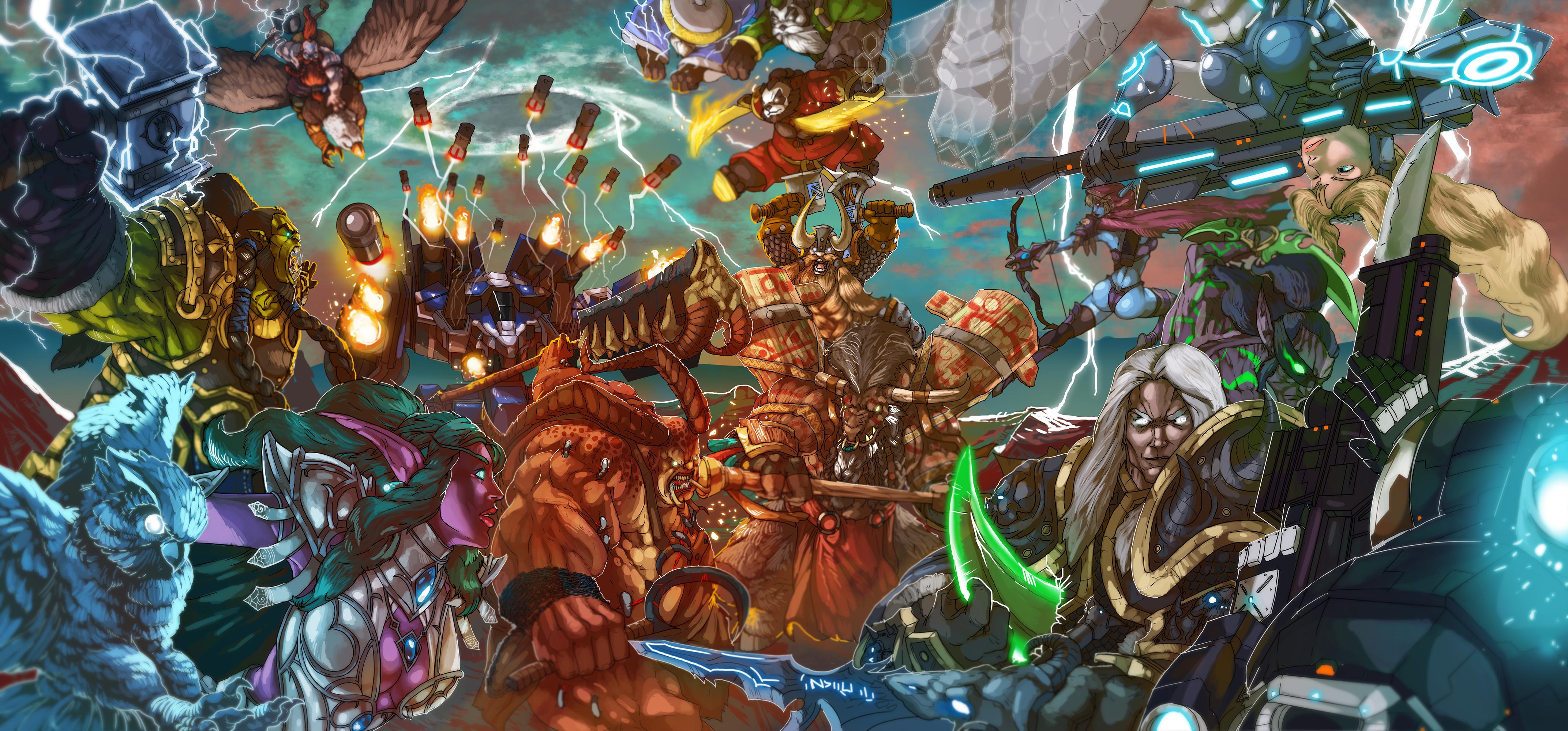 Mayhem at the Nexus by FrostLlamzon
