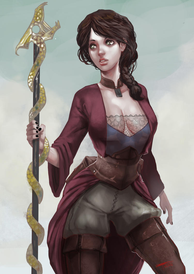 Neesha, The Witch of Ruk Mountain by FrostLlamzon