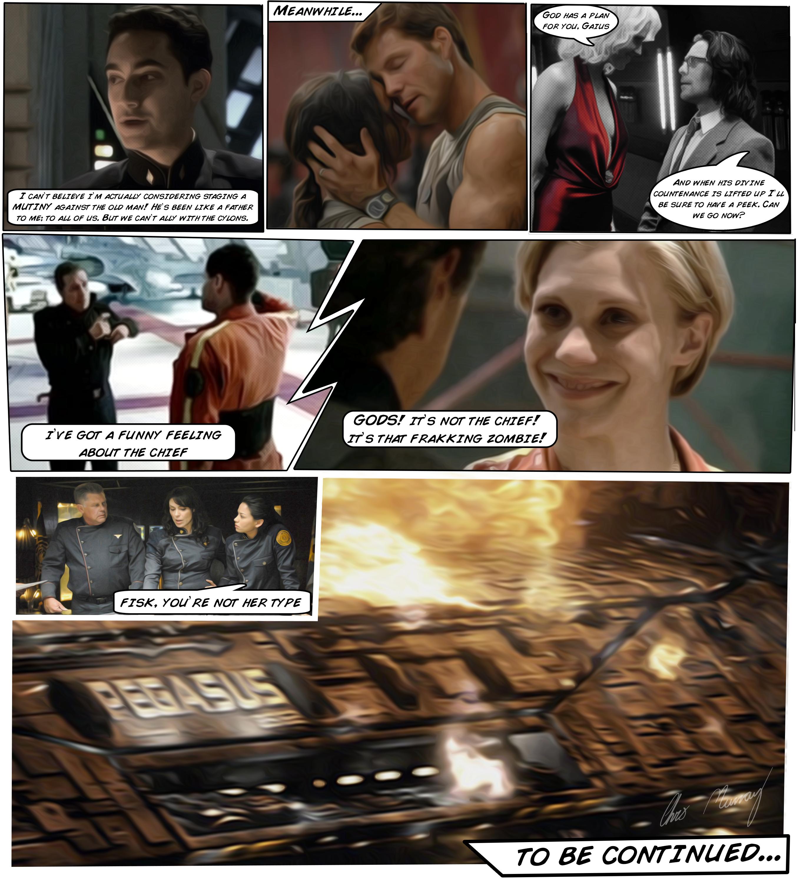 Battlestar Galactica Comic Test by Hayter